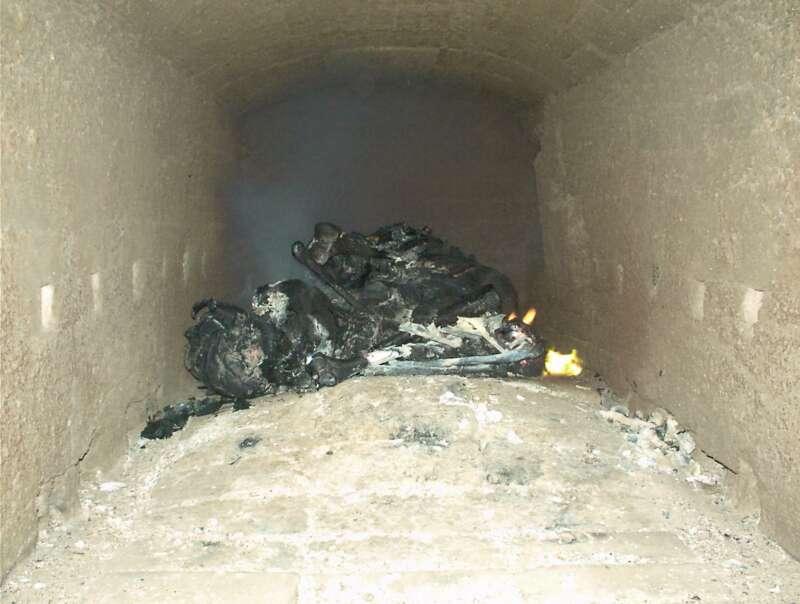 Cremación de restos cadavéricos (Etapa 2 - 10 minutos)