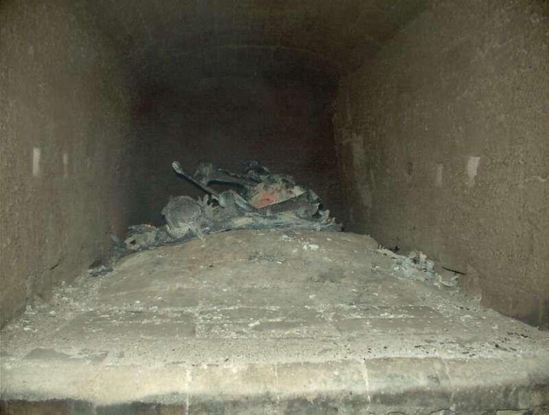 Cremación de restos cadavéricos (Etapa 5 - 40 minutos)