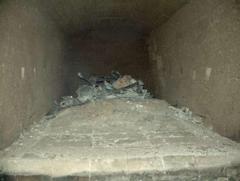 Cremación de restos cadavéricos (Etapa 6 - 50 minutos)