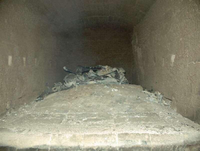 Cremación de restos cadavéricos (Etapa 8 - 70 minutos)